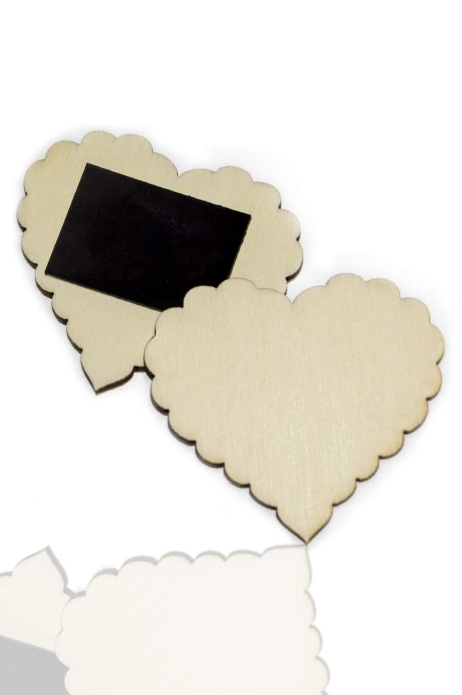 110. Drevená magnetka na chladničku – základný materiál 50x45mm